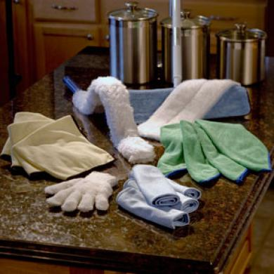 Wipe all surfaces using simple micro-fiber cloth - Cleaning Tips