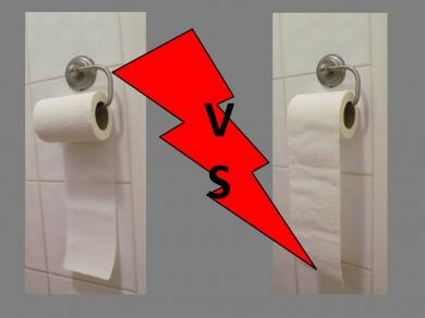 Toilet Paper Rolls - Front or Behind? - Everest Clean News